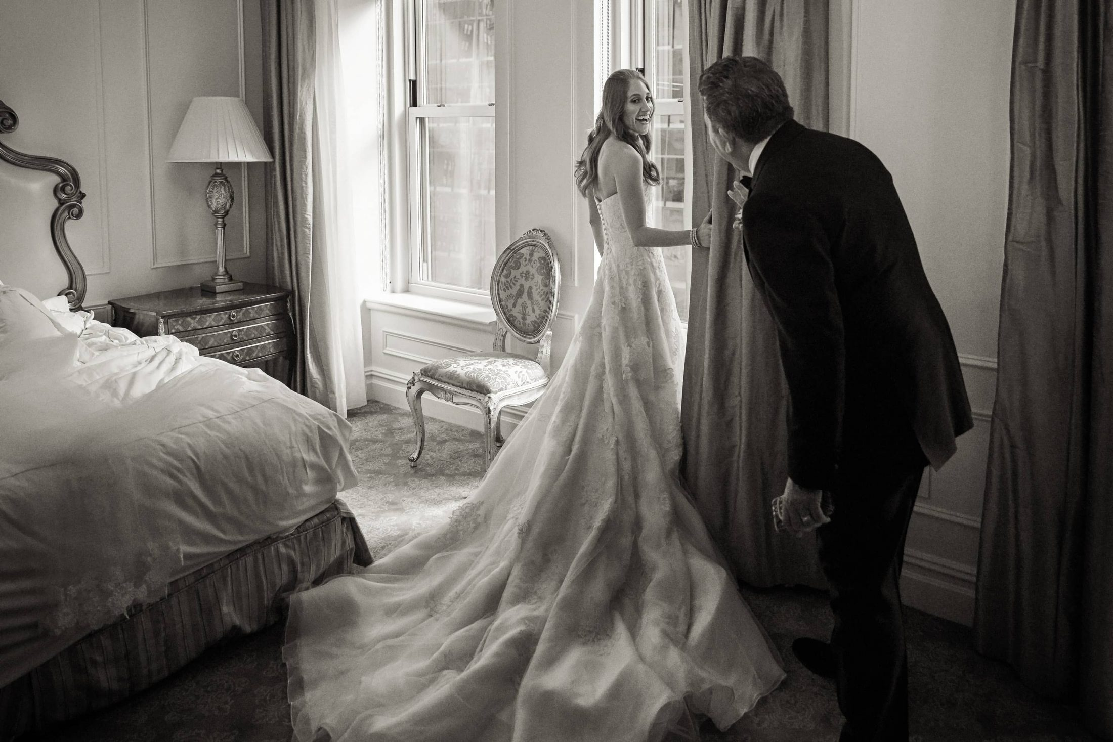 Bride at this classic autumn wedding at The Plaza in NYC | Photo by Christian Oth Studio