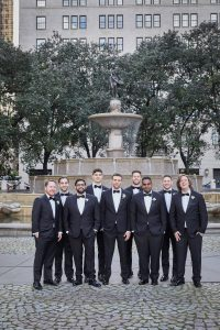 Groom and groomsmen at this classic autumn wedding at The Plaza in NYC | Photo by Christian Oth Studio