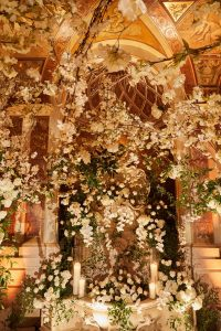 Exquisite floral arrangements designed by Ed Libby at this classic autumn wedding at The Plaza in NYC | Photo by Christian Oth Studio