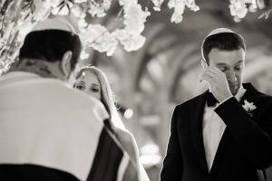 Bride and groom at this classic autumn wedding at The Plaza in NYC | Photo by Christian Oth Studio