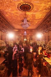 Guests during reception at this classic autumn wedding at The Plaza in NYC | Photo by Christian Oth Studio