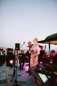 Bright and colorful welcome party entertainment at this Istanbul wedding weekend at Four Seasons Bosphorus | Photo by Allan Zepeda