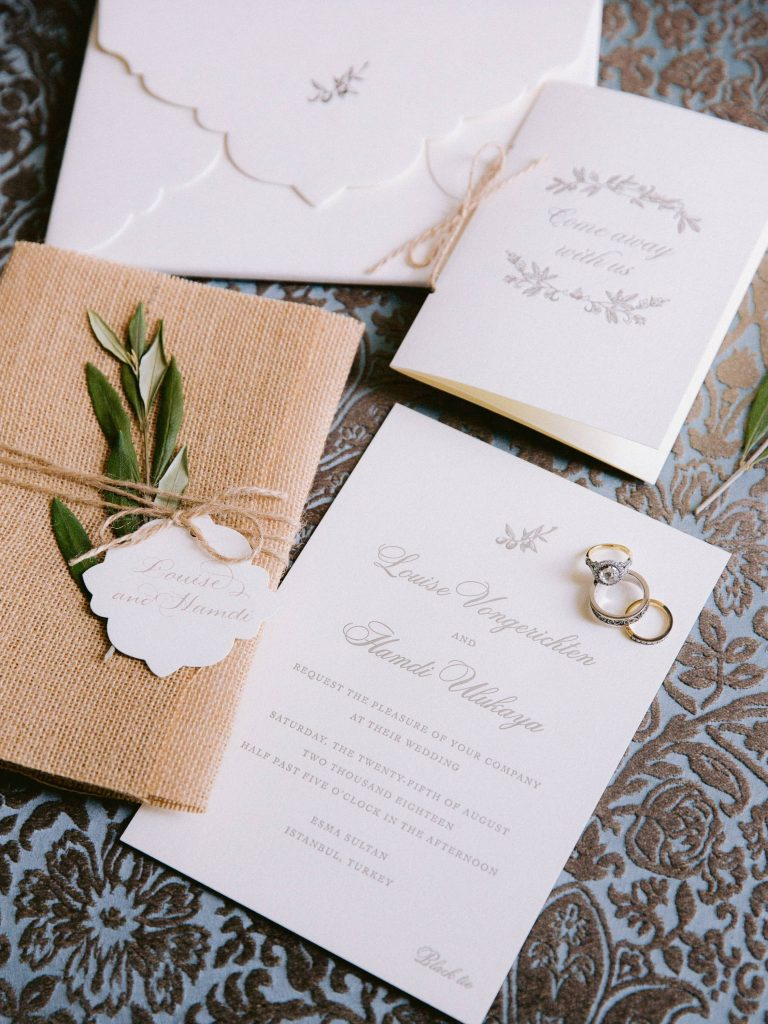 Wedding stationery for this Istanbul wedding weekend at Four Seasons Bosphorus | Photo by Allan Zepeda