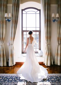 Bride and dress at this Istanbul wedding weekend at Four Seasons Bosphorus   Photo by Allan Zepeda