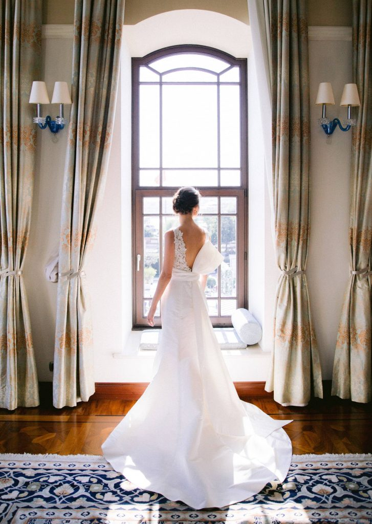 Bride and dress at this Istanbul wedding weekend at Four Seasons Bosphorus | Photo by Allan Zepeda