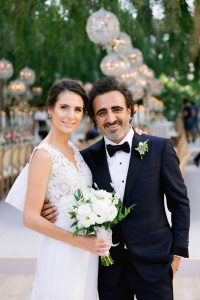 Bride and groom at Esma Sultan at this Istanbul wedding weekend at Four Seasons Bosphorus | Photo by Allan Zepeda