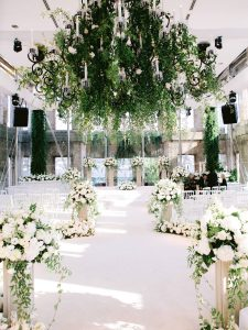 Ceremony at Esma Sultan at this Istanbul wedding weekend at Four Seasons Bosphorus | Photo by Allan Zepeda