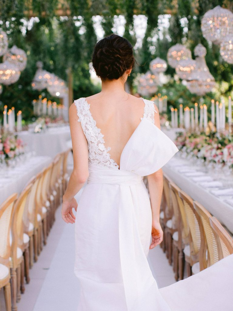 Bride at garden-inspired reception at this Istanbul wedding weekend at Four Seasons Bosphorus | Photo by Allan Zepeda