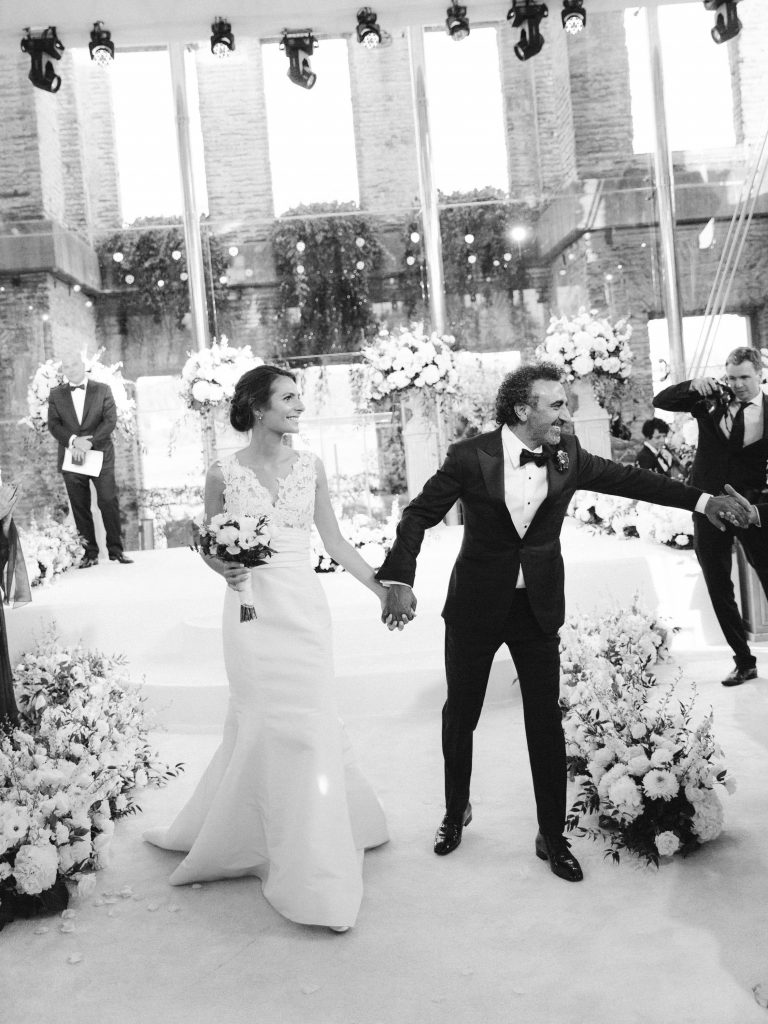 Newlyweds during the ceremony at this Istanbul wedding weekend at Four Seasons Bosphorus | Photo by Allan Zepeda