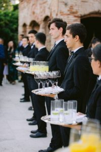 Drinker servers at this Istanbul wedding weekend at Four Seasons Bosphorus | Photo by Allan Zepeda