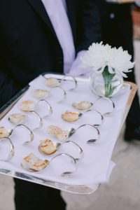 Hors d'oeuvres at this Istanbul wedding weekend at Four Seasons Bosphorus | Photo by Allan Zepeda