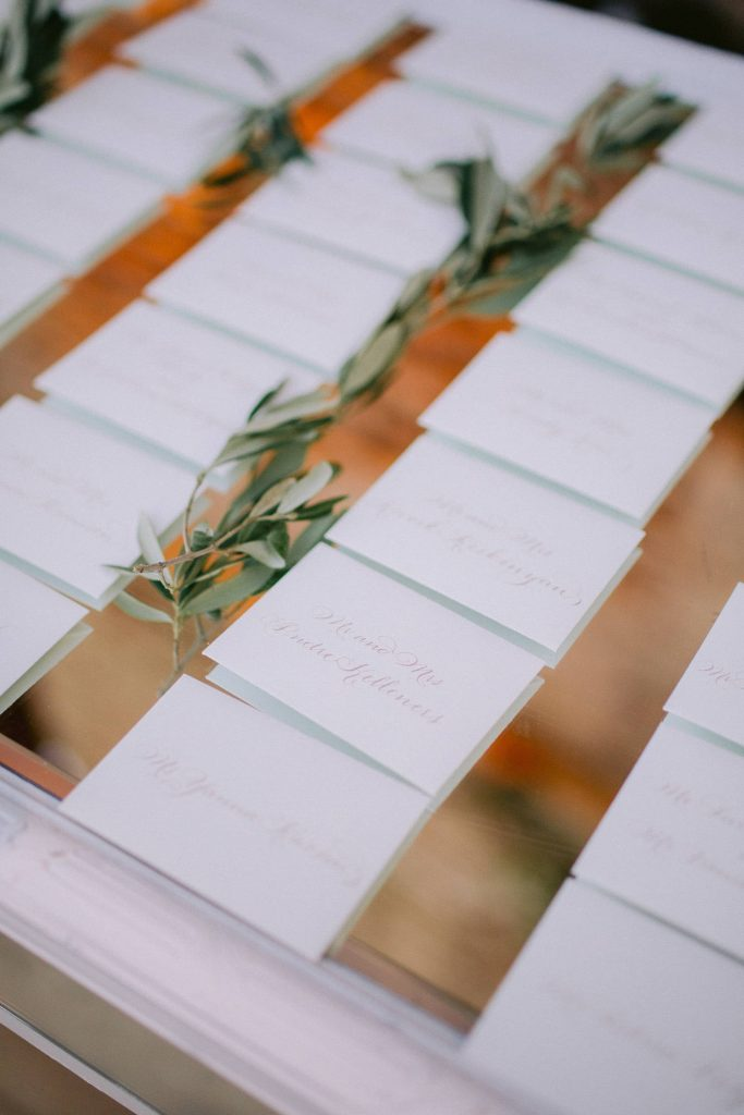 Reception table cards at this Istanbul wedding weekend at Four Seasons Bosphorus | Photo by Allan Zepeda