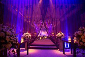 Reception nightclub at this Istanbul wedding weekend at Four Seasons Bosphorus | Photo by Allan Zepeda