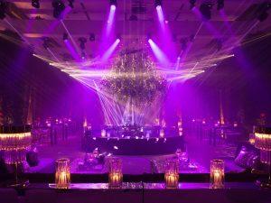 Reception nightclub at this Istanbul wedding weekend at Four Seasons Bosphorus   Photo by Allan Zepeda