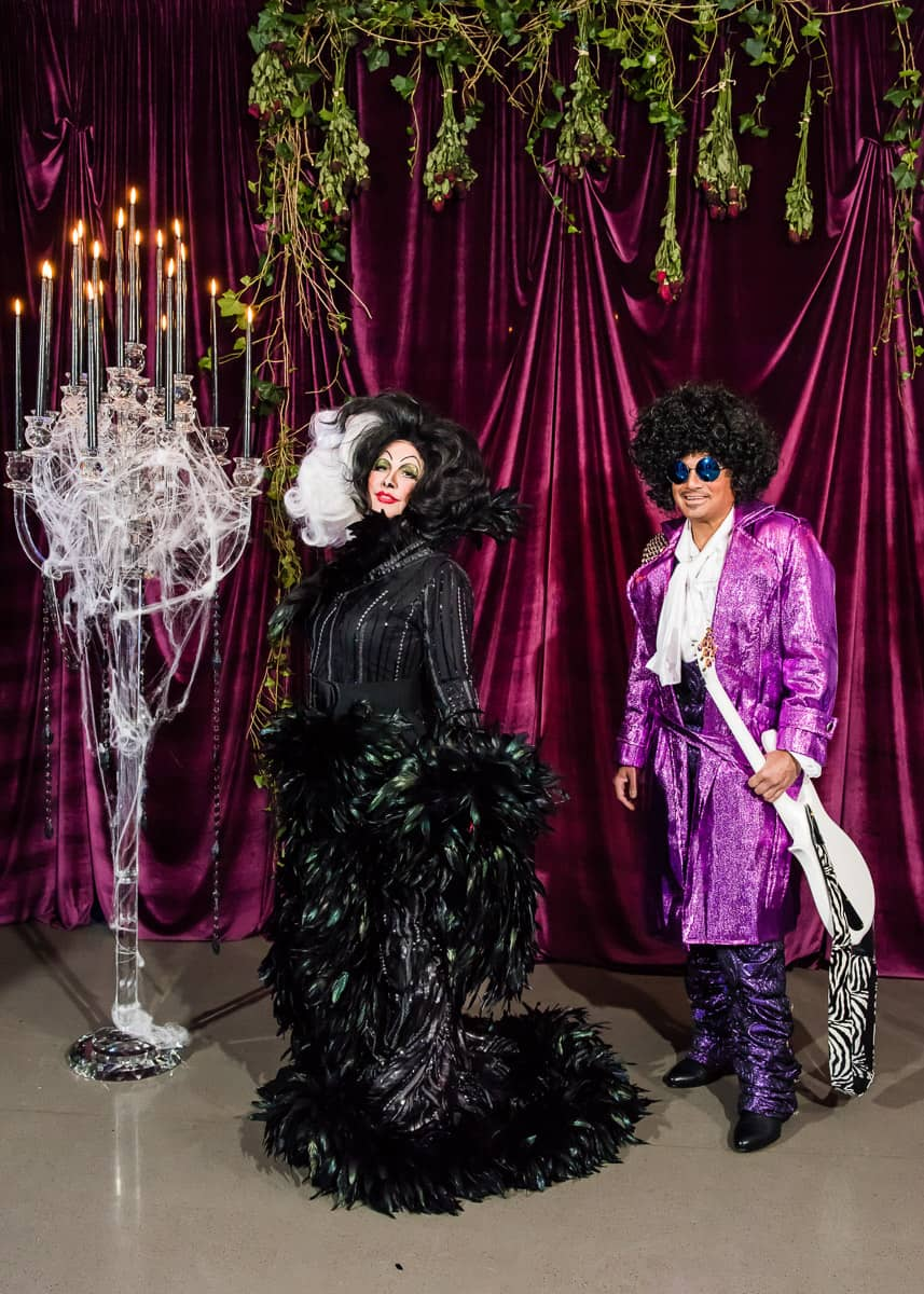 Cruella de Vil and Prince at this epic halloween party at The Standard in NYC | Photo by Gruber Photographers