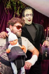 Alan from The Hangover and Frankenstein at this epic halloween party at The Standard in NYC | Photo by Gruber Photographers