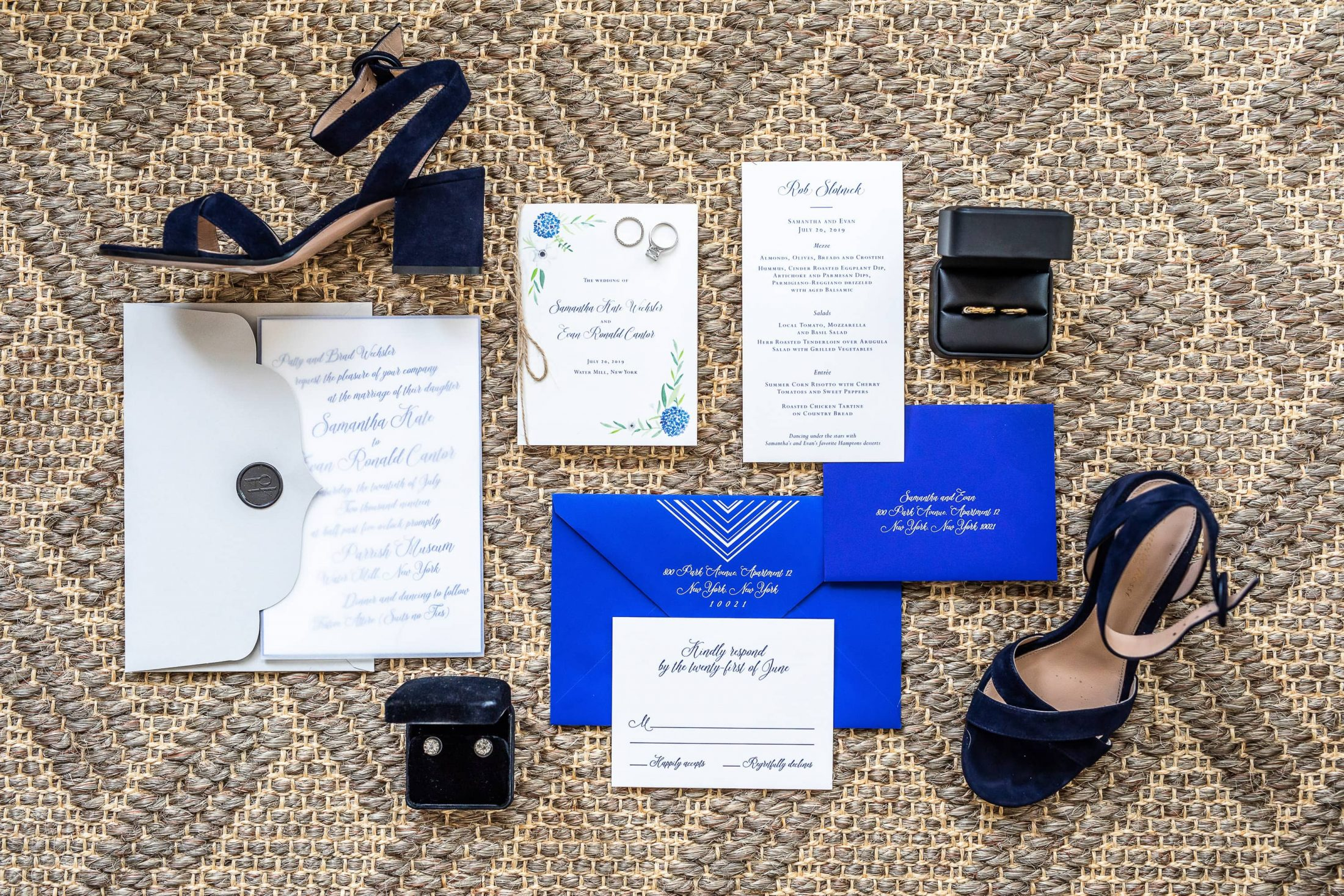 Wedding stationery at this Hamptons wedding weekend held at The Parrish Museum | Photo by Roey Yohai Studio