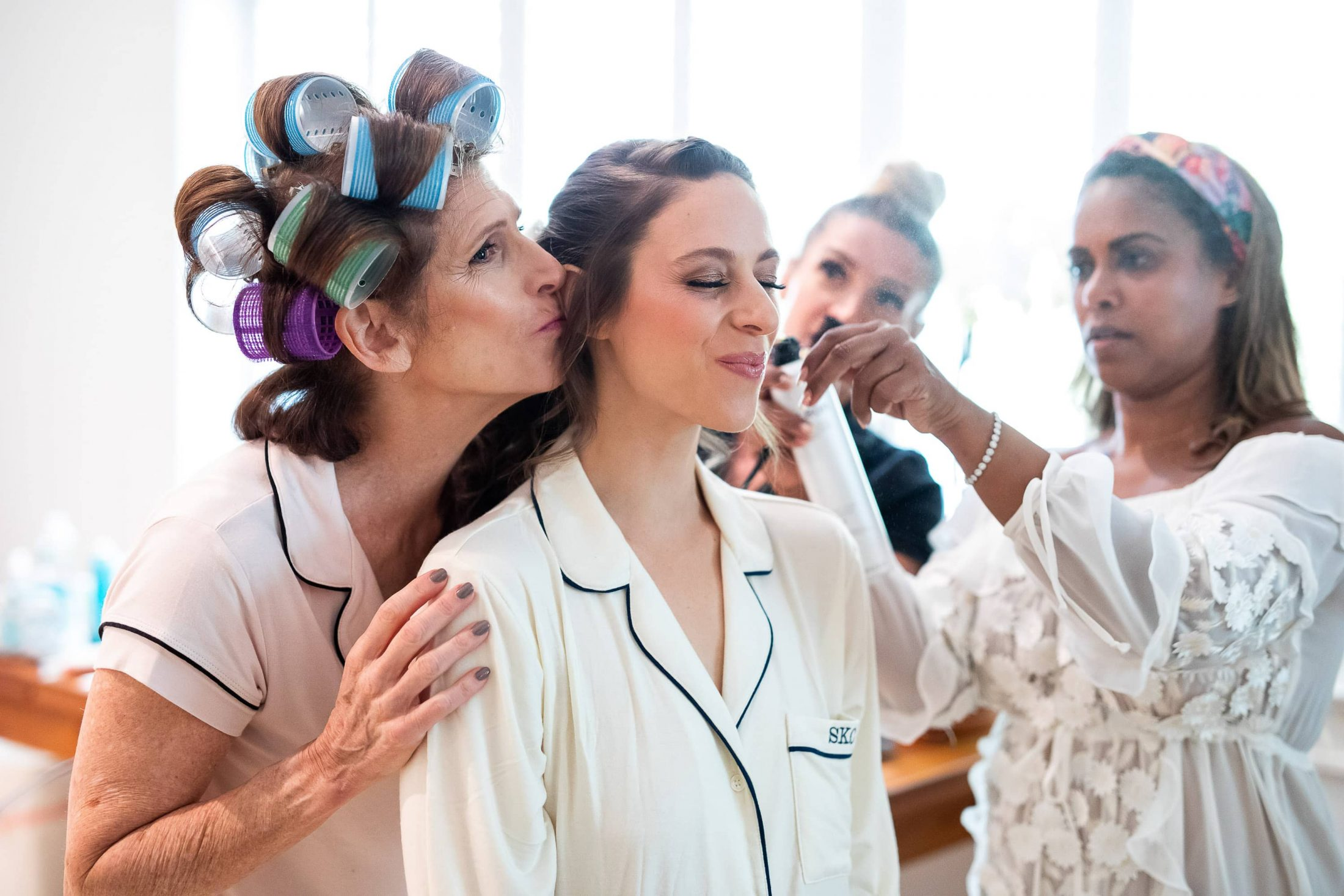 Bride getting ready at this Hamptons wedding weekend held at The Parrish Museum | Photo by Roey Yohai Studio