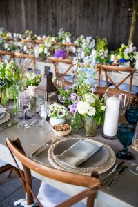 Table and floral decor at this Hamptons wedding weekend held at The Parrish Museum | Photo by Roey Yohai Studio