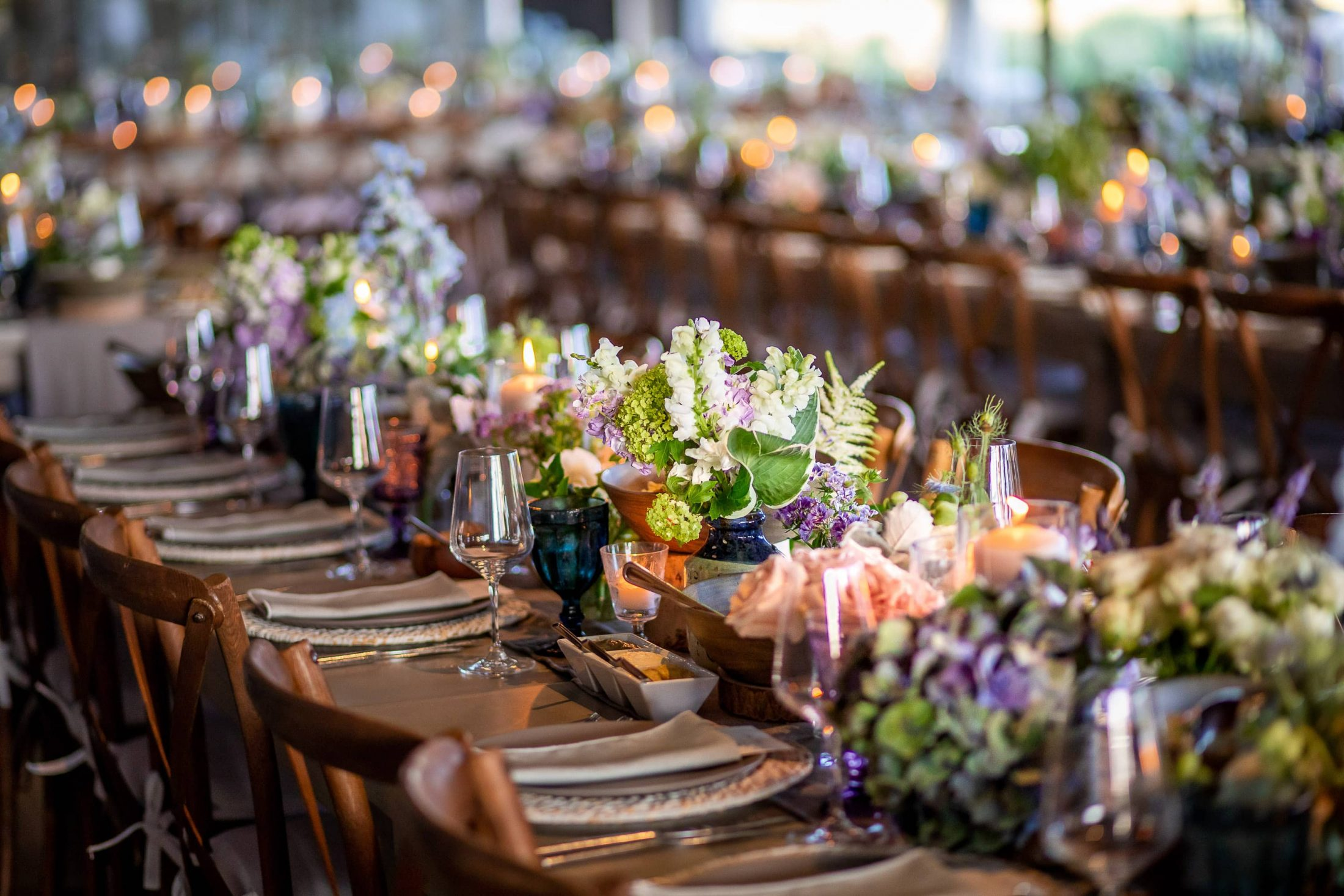 Reception table decor at this Hamptons wedding weekend held at The Parrish Museum | Photo by Roey Yohai Studio