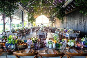 Reception at this Hamptons wedding weekend held at The Parrish Museum | Photo by Roey Yohai Studio