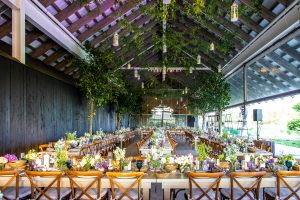 Reception at this Hamptons wedding weekend held at The Parrish Museum   Photo by Roey Yohai Studio