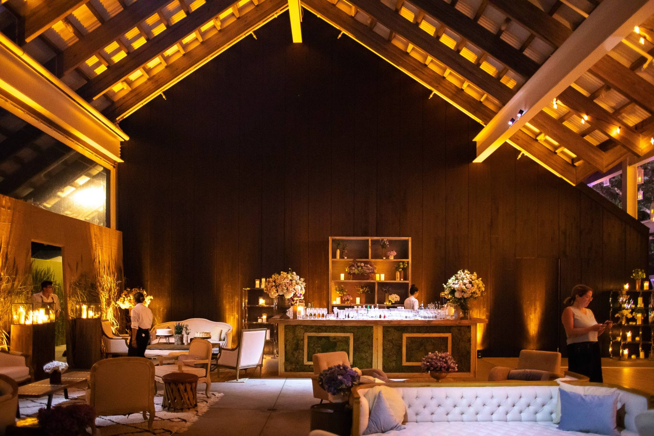 Bar during reception at this Hamptons wedding weekend held at The Parrish Museum | Photo by Roey Yohai Studio