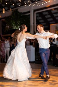 Bride and groom dancing during reception at this Hamptons wedding weekend held at The Parrish Museum | Photo by Roey Yohai Studio