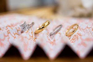 Bride and groom rings at this Hamptons wedding weekend held at The Parrish Museum | Photo by Roey Yohai Studio