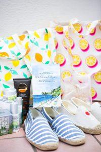 Guest goodie bag at this Amalfi Coast wedding weekend held Lo Scoglio | Photo by Allan Zepeda