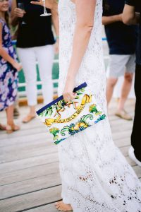 Bride details at welcome party at this Amalfi Coast wedding weekend held Lo Scoglio   Photo by Allan Zepeda