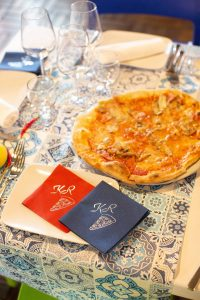 Pizza details at evening pizza party at this Amalfi Coast wedding weekend held Lo Scoglio | Photo by Allan Zepeda