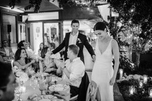 Reception at this Amalfi Coast wedding weekend held Lo Scoglio   Photo by Allan Zepeda