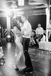 Bride and groom first dance during reception at this Amalfi Coast wedding weekend held Lo Scoglio | Photo by Allan Zepeda