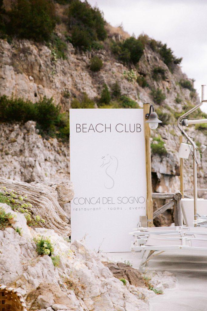 Conca del Sogno Beach Club, Amalfi Coast wedding weekend held Lo Scoglio | Photo by Allan Zepeda
