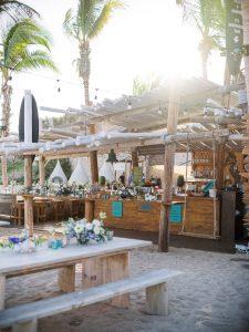 Beach bar at this Los Cabos wedding in Mexico | Photo by Allan Zepeda