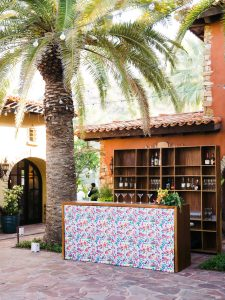 Colorful bar at this Los Cabos wedding in Mexico | Photo by Allan Zepeda