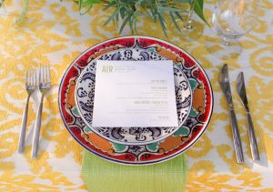 Table setting and menu at this Los Cabos wedding in Mexico | Photo by Allan Zepeda