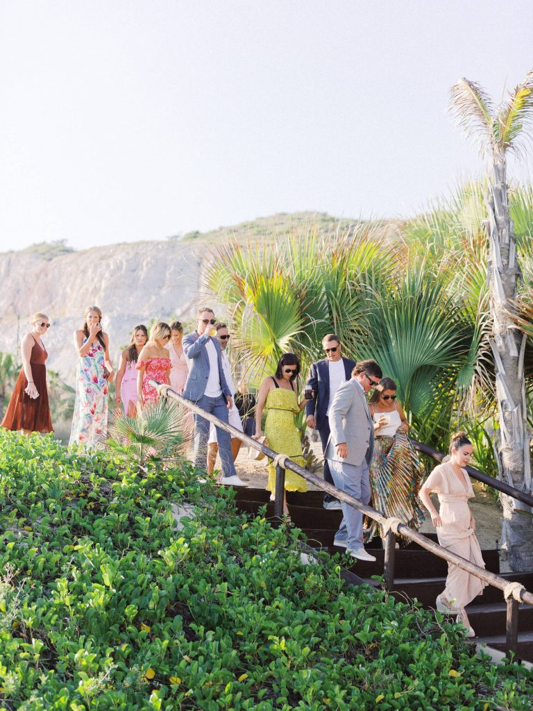 Guests at this Los Cabos wedding in Mexico | Photo by Allan Zepeda