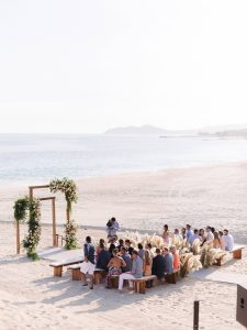 Ceremony on the beach at this Los Cabos wedding in Mexico | Photo by Allan Zepeda