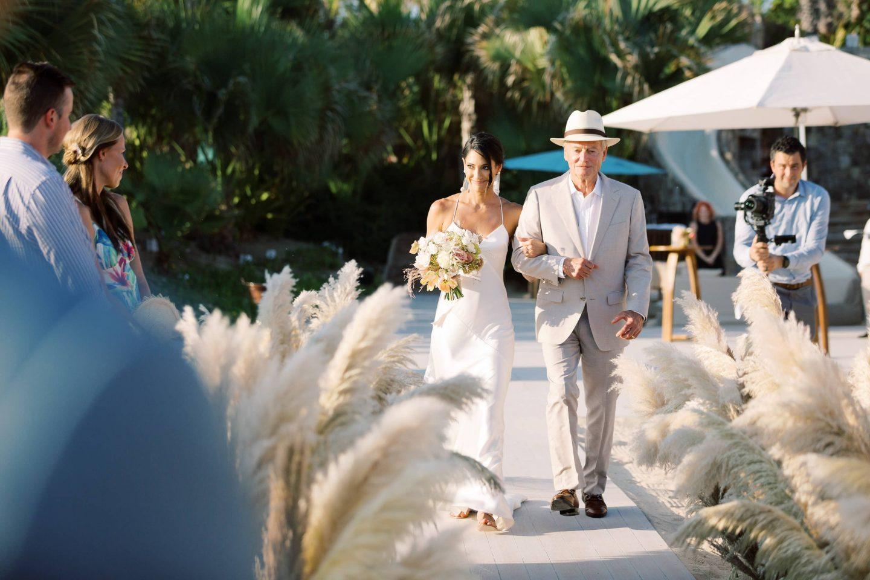Bride entrance at this Los Cabos wedding in Mexico | Photo by Allan Zepeda
