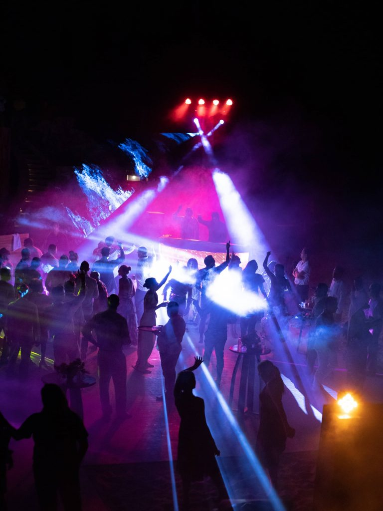 Beach dance party with DJ Griffin at this Los Cabos wedding in Mexico | Photo by Allan Zepeda