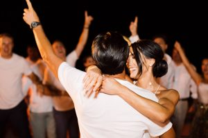 Bride and groom during dance party at this Los Cabos wedding in Mexico | Photo by Allan Zepeda
