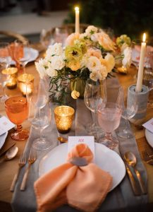 Table decor during reception at this Los Cabos wedding in Mexico   Photo by Allan Zepeda