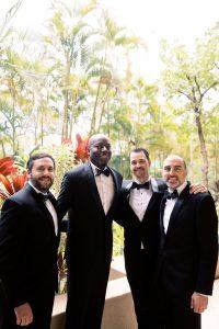 Groom and groomsmen at Maui wedding at Four Seasons Resort Maui in Wailea, Hawaii | Photo by James x Schulze
