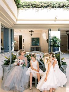 Bride and flower girls at Maui wedding at Four Seasons Resort Maui in Wailea, Hawaii | Photo by James x Schulze
