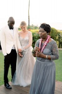 Prayers at reception at Maui wedding at Four Seasons Resort Maui in Wailea, Hawaii | Photo by James x Schulze