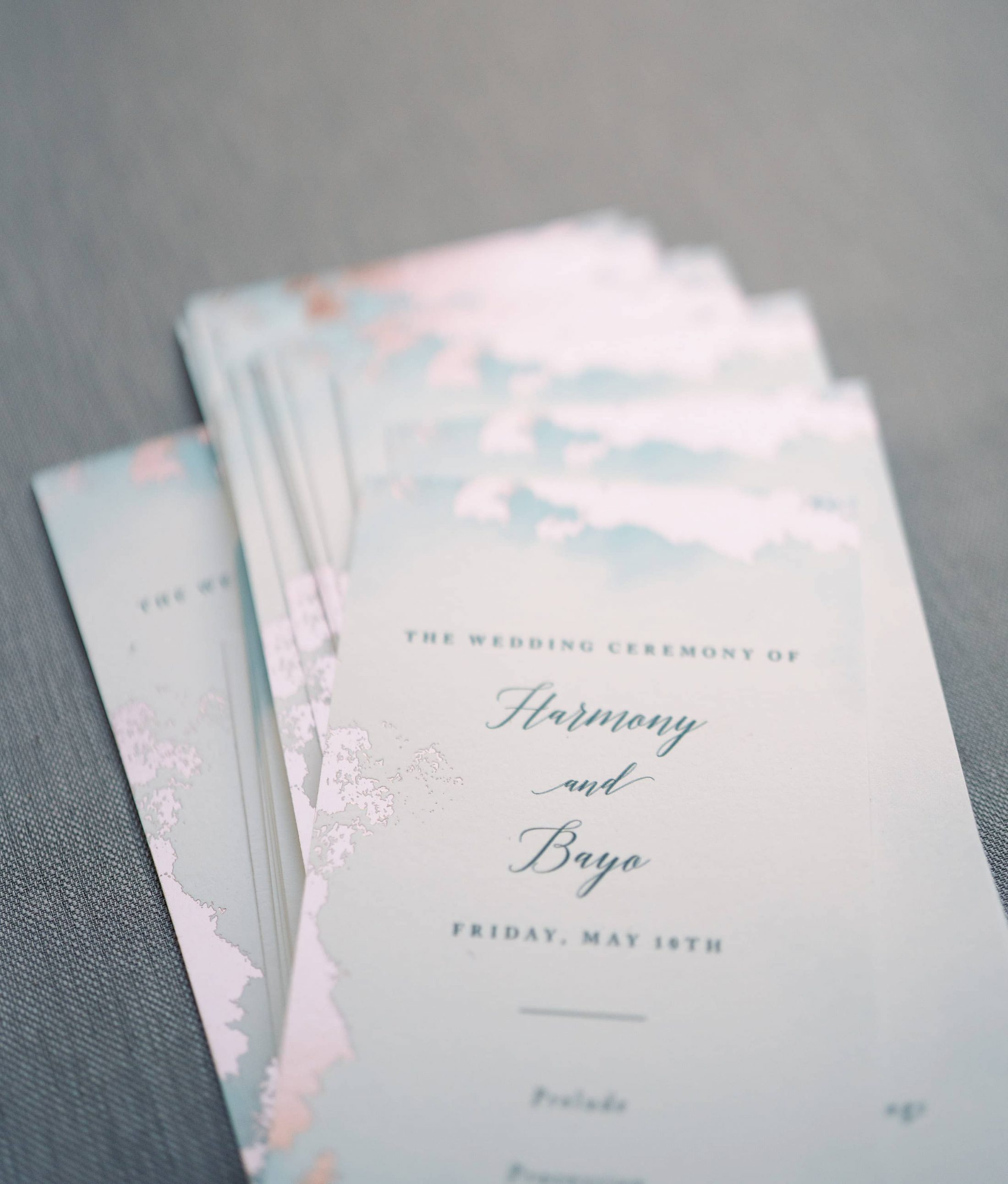 Wedding invitations at Maui wedding at Four Seasons Resort Maui in Wailea, Hawaii | Photo by James x Schulze