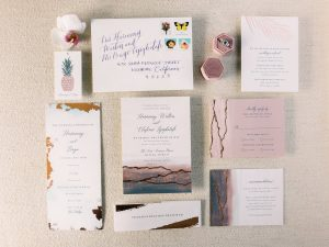 Wedding stationery at Maui wedding at Four Seasons Resort Maui in Wailea, Hawaii | Photo by James x Schulze