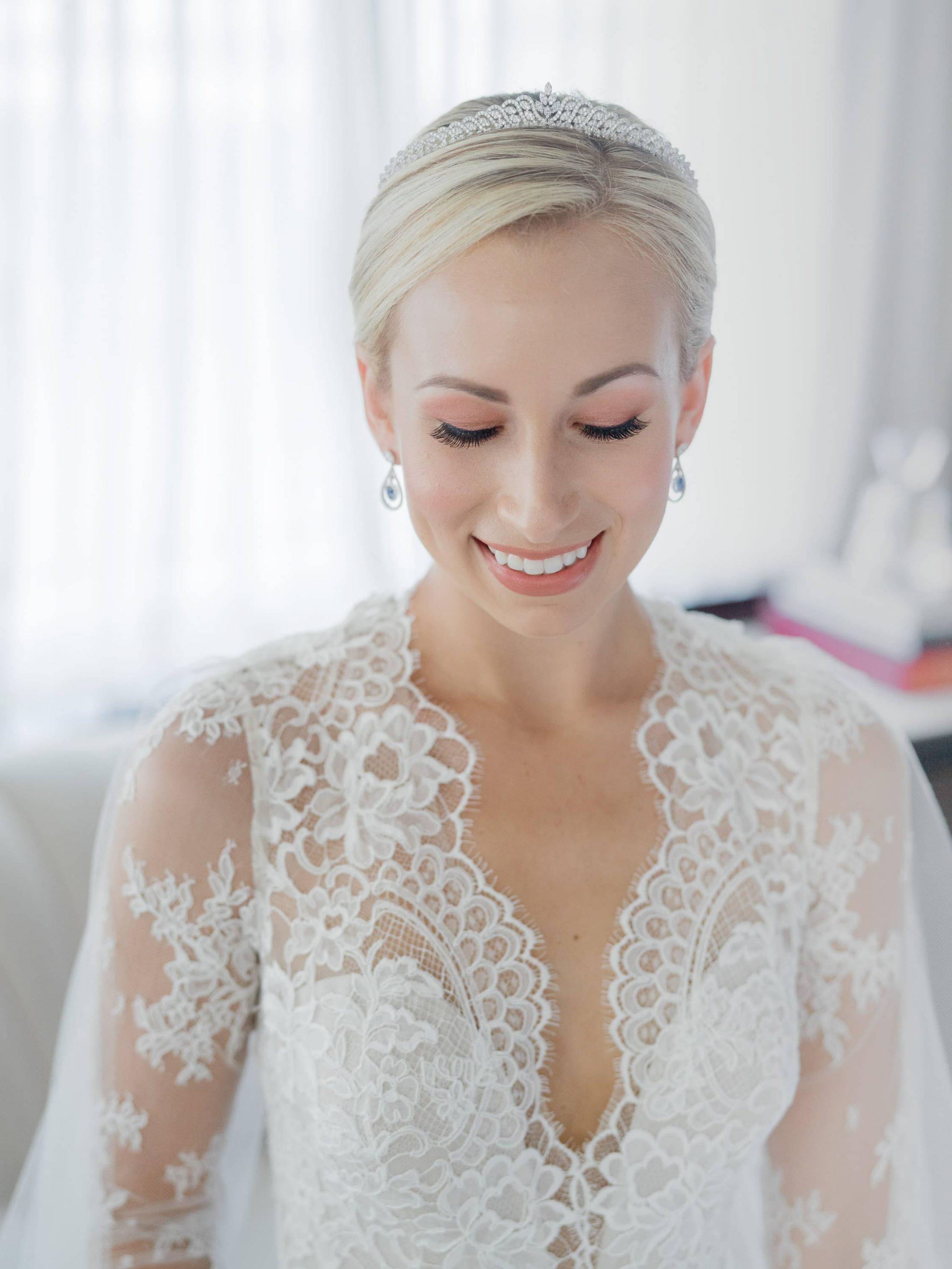 Bride make-up at this Miami yacht wedding | Photo by Corbin Gurkin